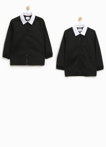 Two-pack solid colour cotton blend smocks