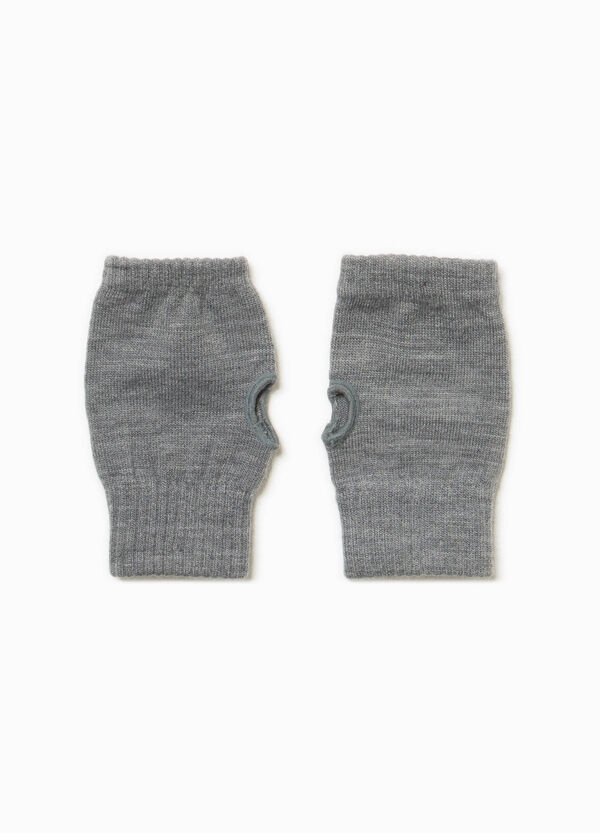 Solid colour mittens with opening | OVS