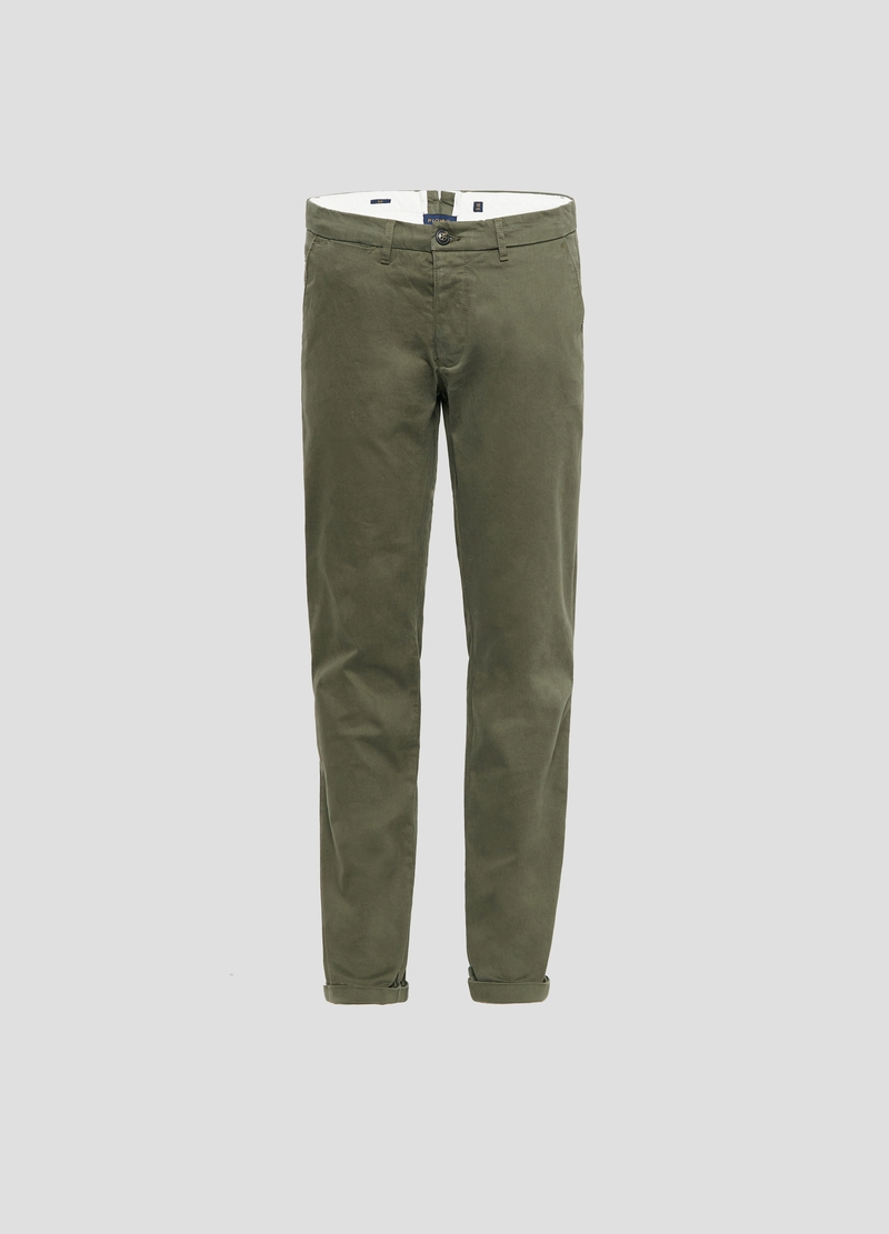 PIOMBO twill chino trousers image number null