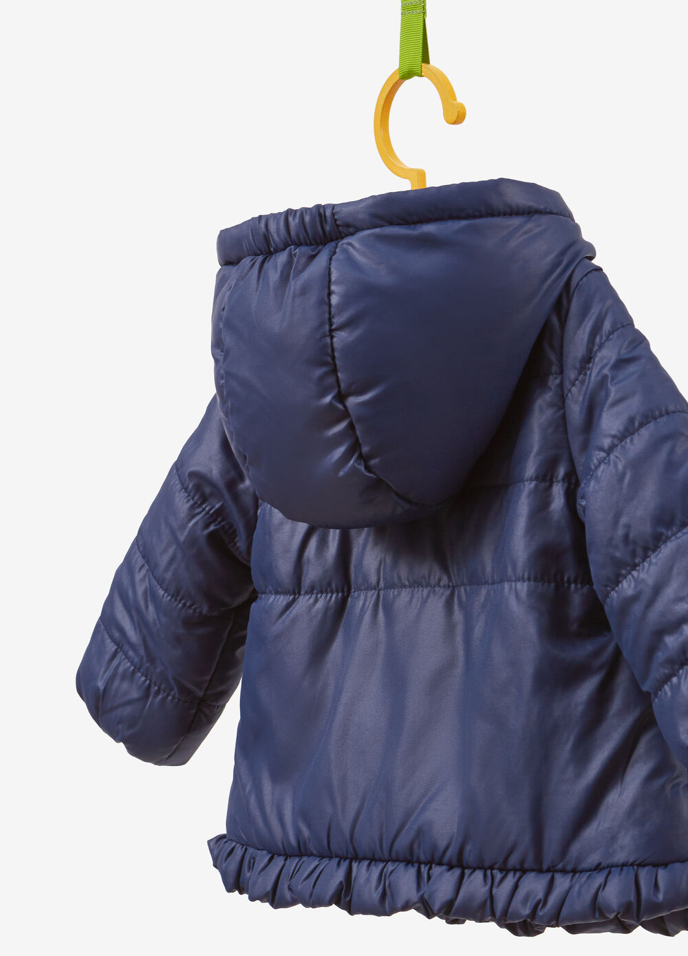 Jacket with hood and flounce