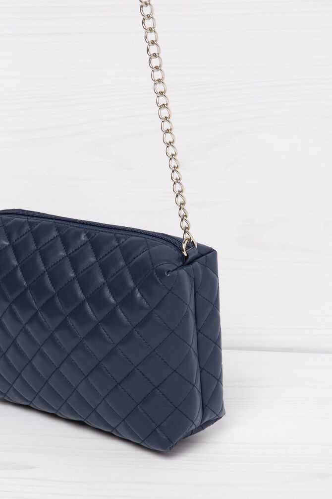 Solid colour quilted mini bag