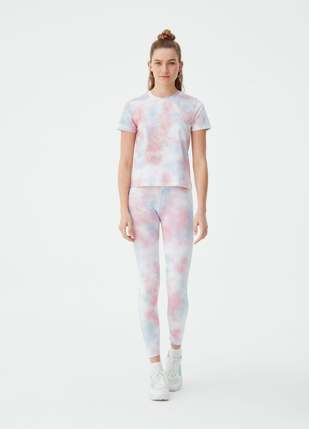Multicoloured shaded-effect T-shirt