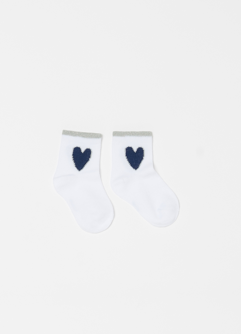 Three-pack short socks with hearts image number null