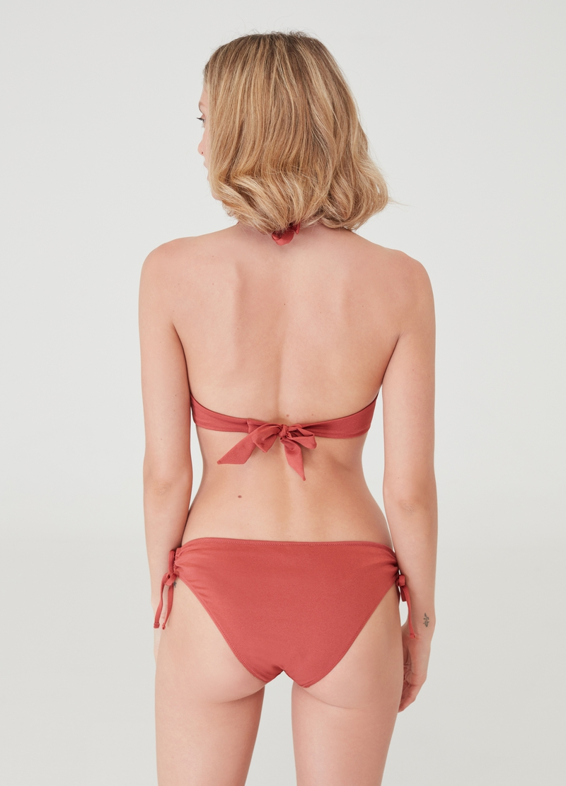 Solid colour bikini briefs with drawstring image number null