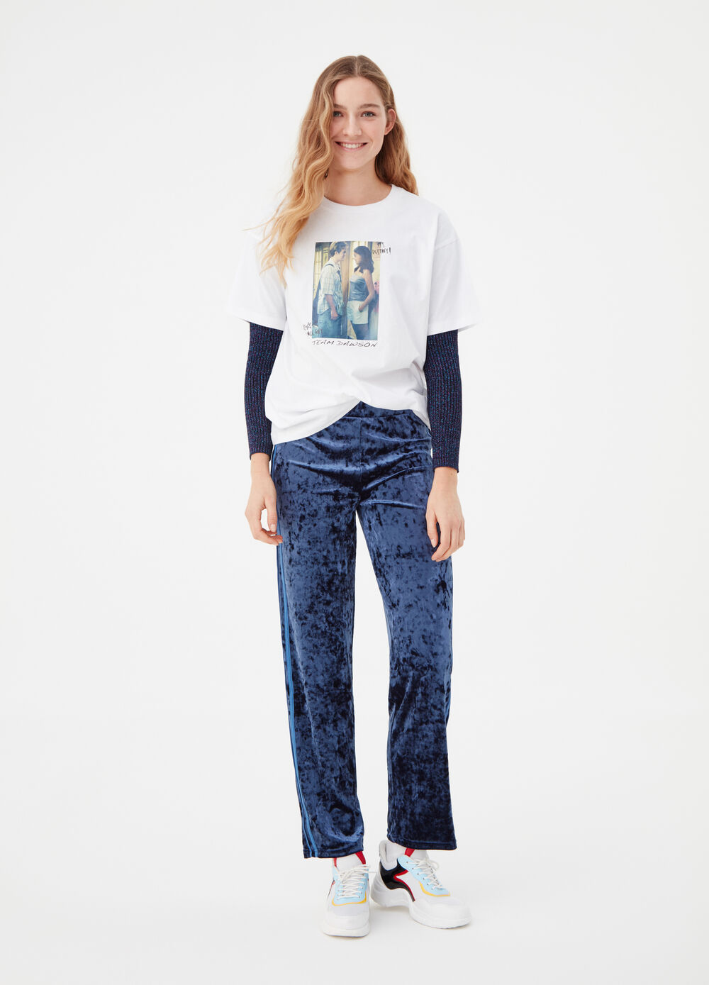 Oversized T-shirt with Dawson's Creek print