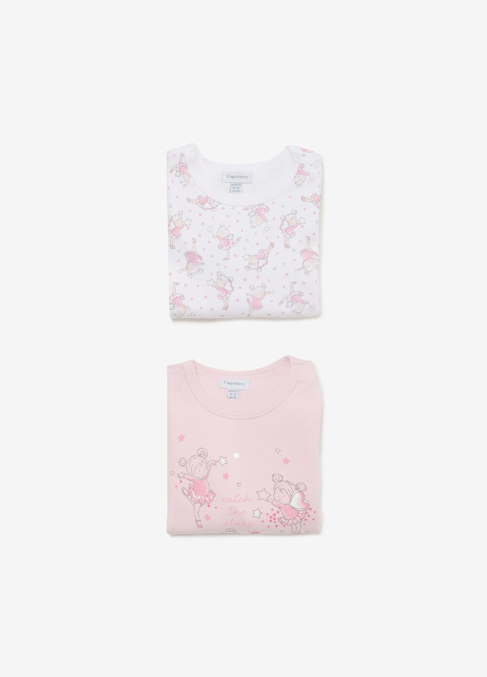 Two-pack ballerina print and pattern bodysuits