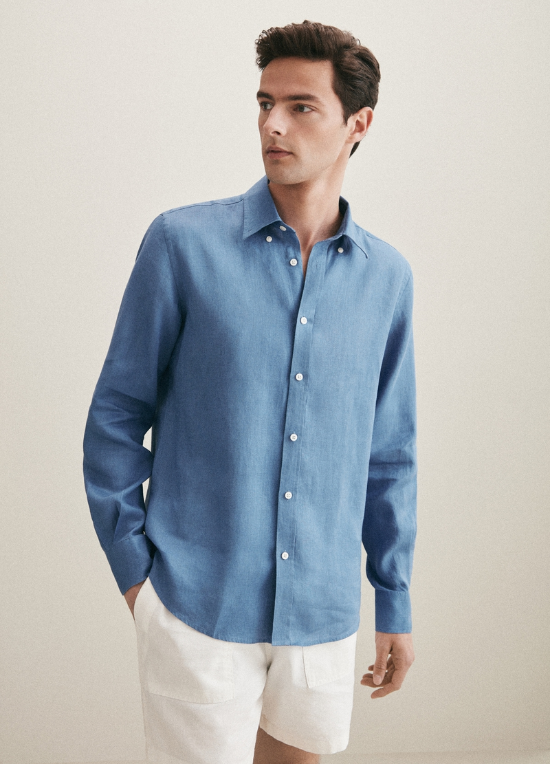 PIOMBO 100% linen shirt image number null