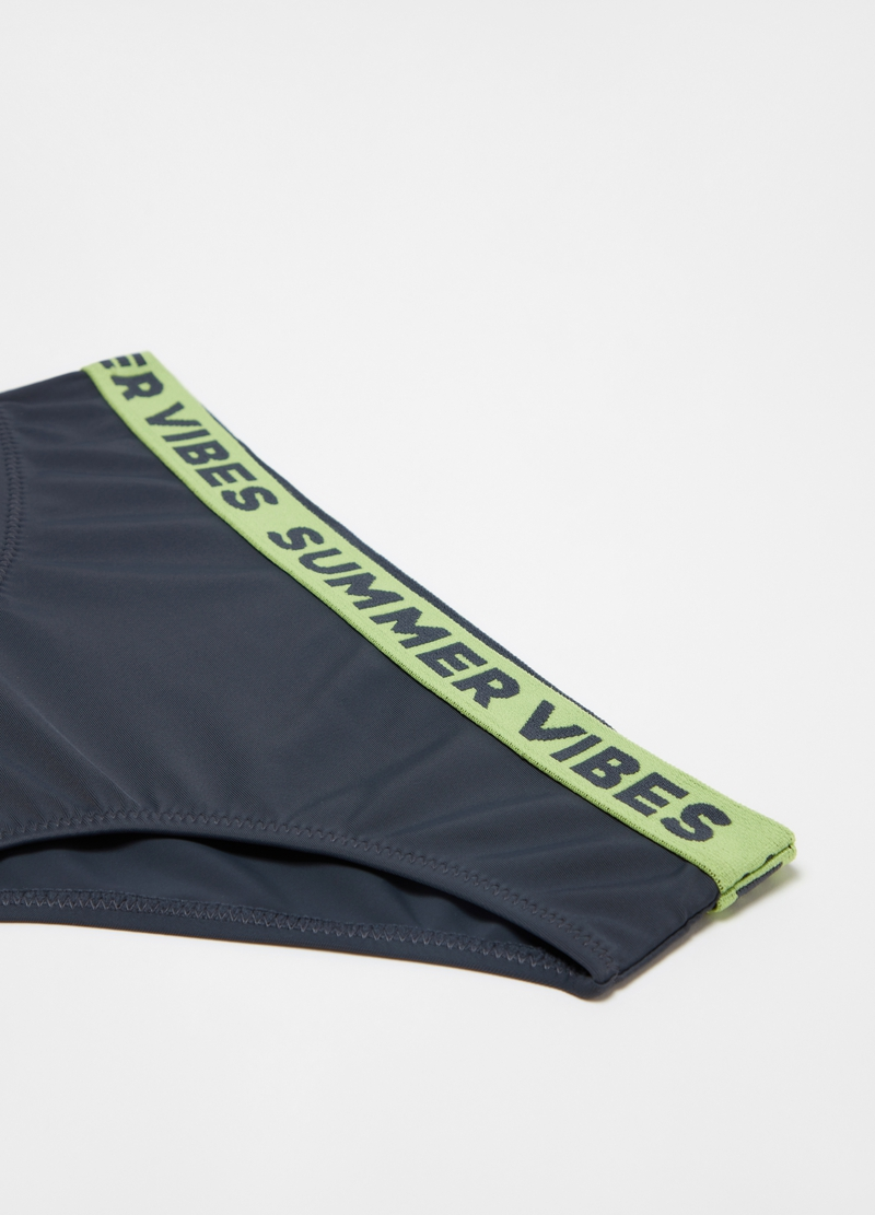 Econyl swim briefs with lettering print image number null