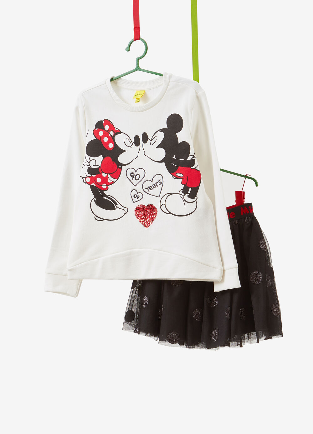 Minnie Mouse cotton T-shirt and skirt outfit