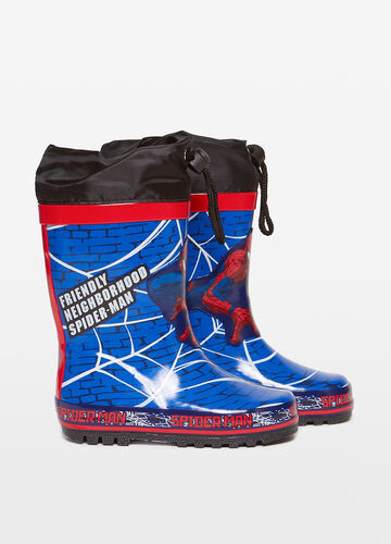Rain boots with Spiderman print