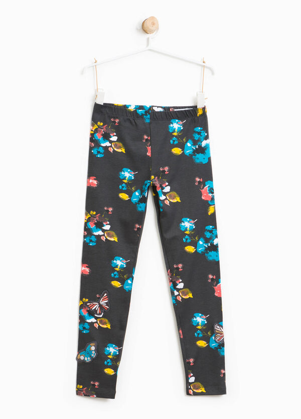 Leggings stampa floreale con patch   OVS