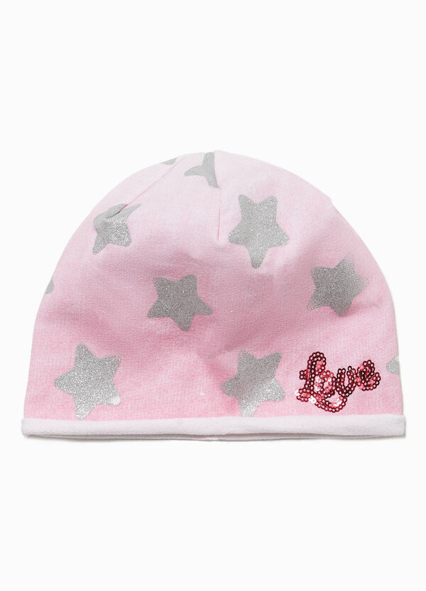 Star beanie with sequins