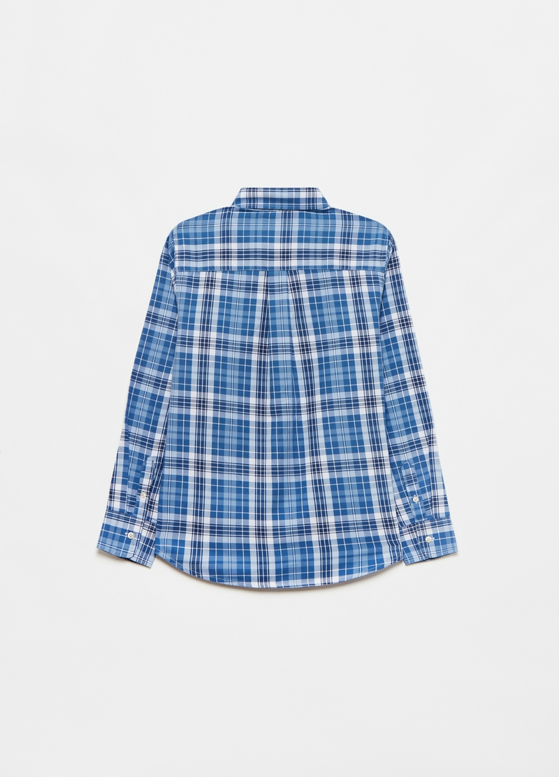 Check shirt with button-down collar image number null