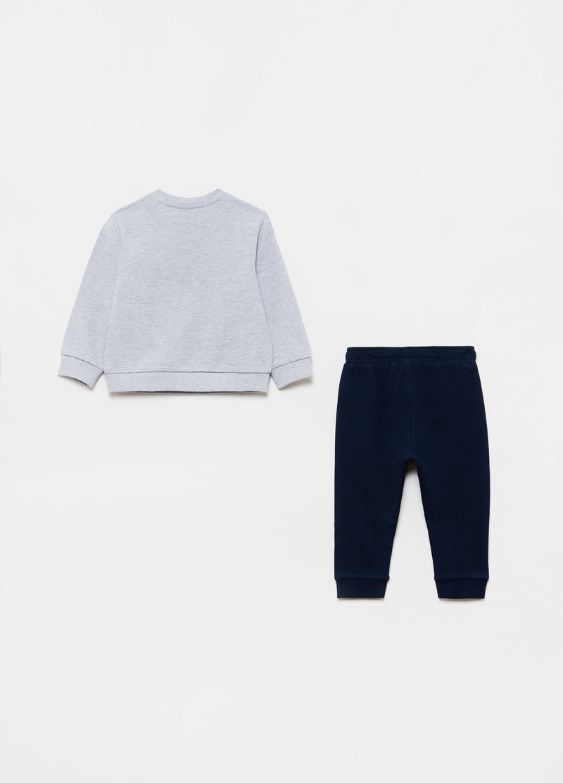 Sweatshirt and trousers jogging set with print image number null