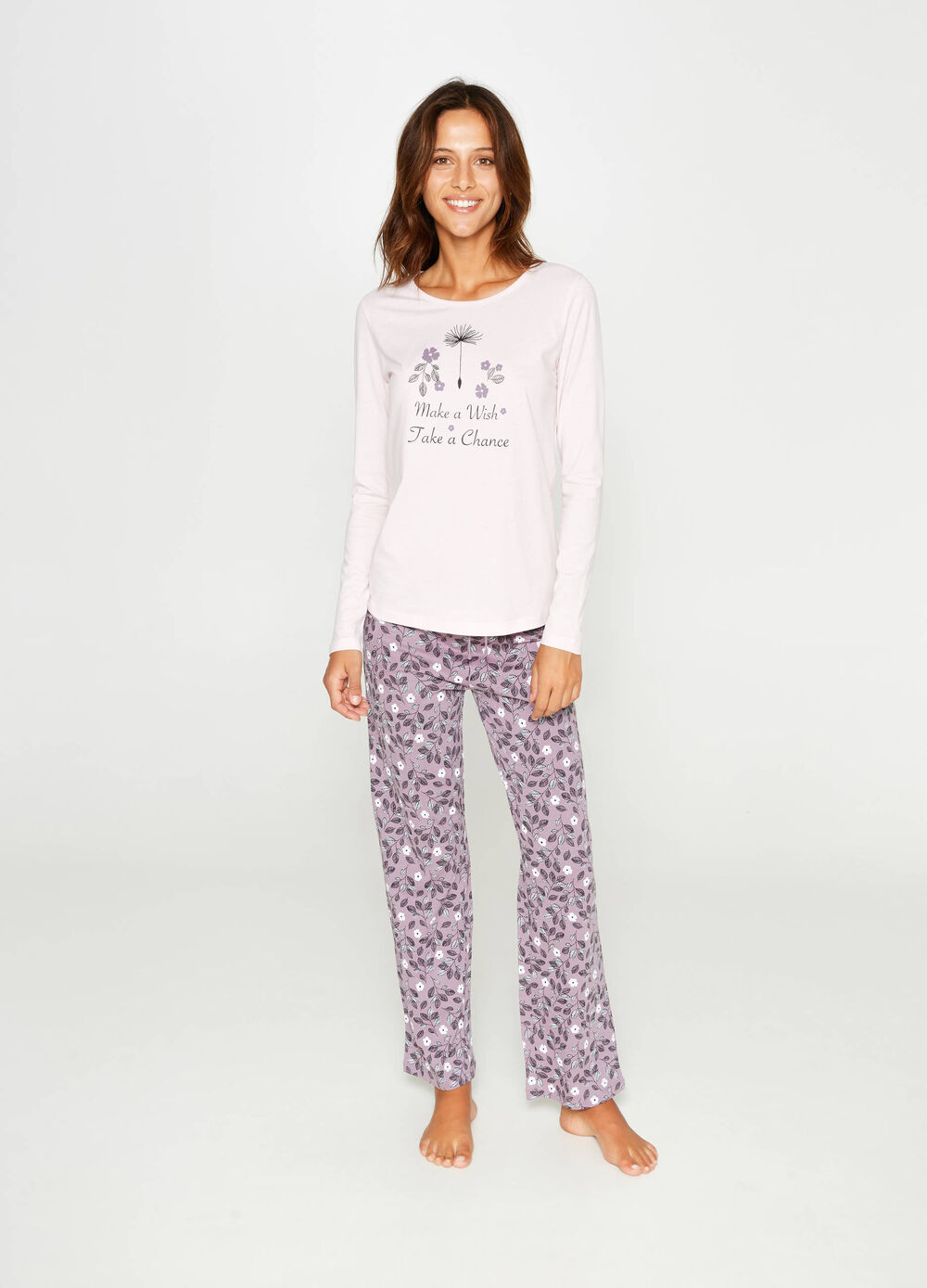 Floral cotton pyjamas
