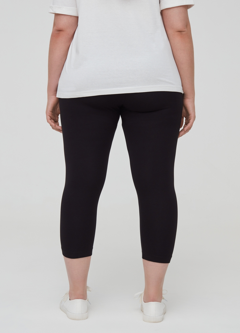 Curvy short leggings in stretch organic cotton image number null