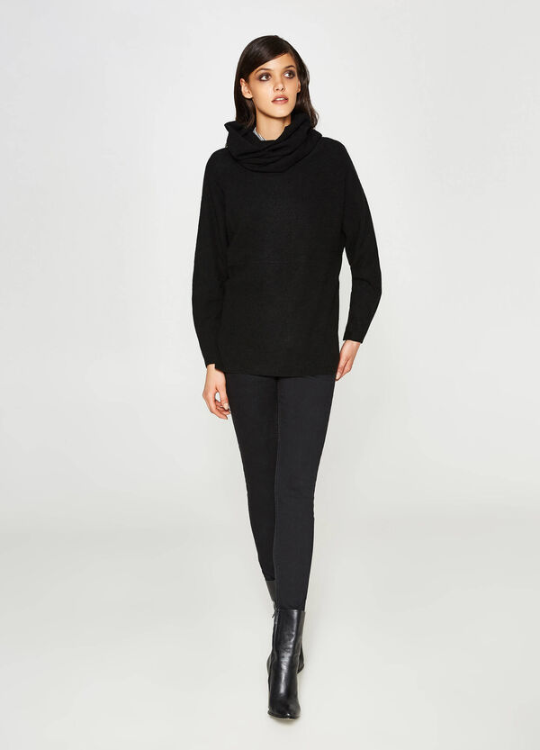 Wool and viscose batwing pullover | OVS