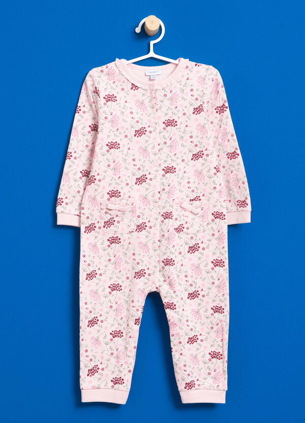 Floral pattern onesie in 100% cotton | OVS