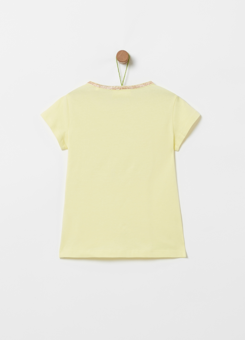T-shirt with tassels and glitter print image number null
