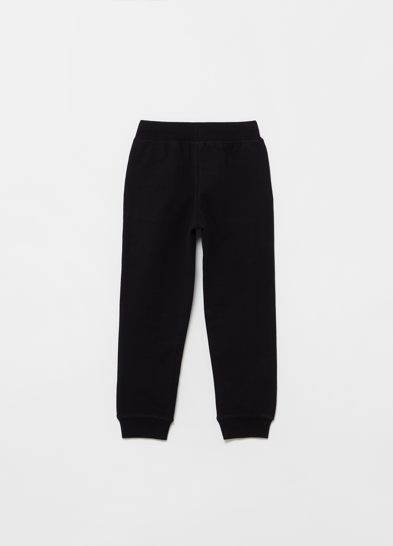 Joggers in felpa di cotone stretch image number null