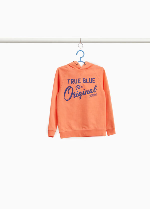 100% cotton sweatshirt with printed lettering