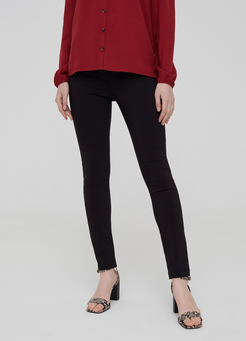 Pantaloni in viscosa stretch image number null