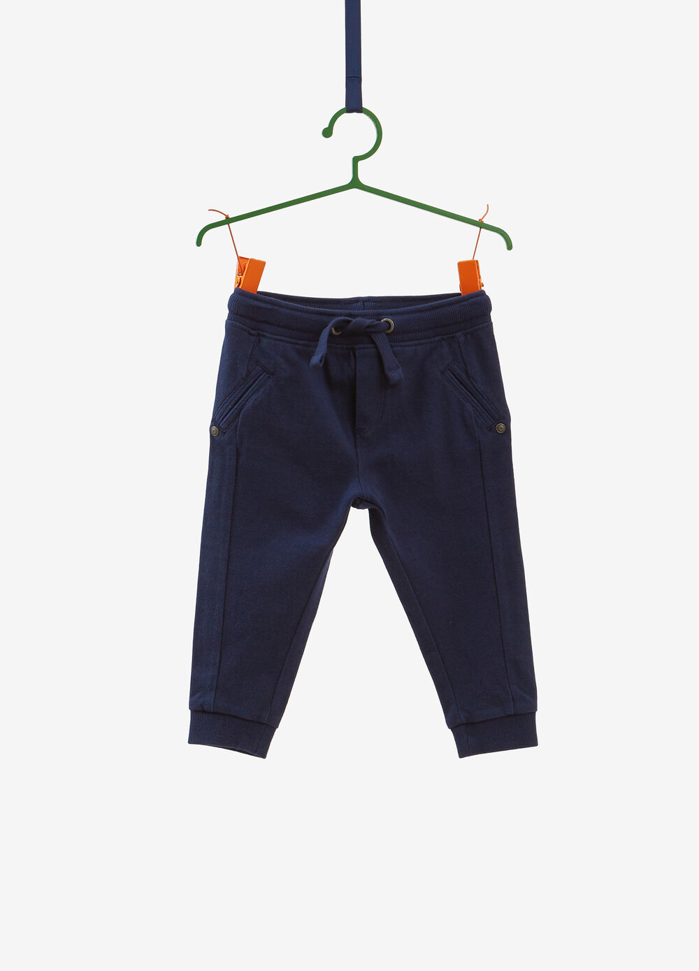 Trousers in 100% organic cotton piquet