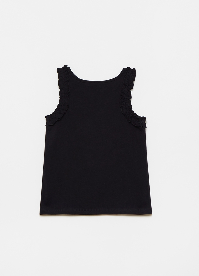 Tank top with flounces and print image number null