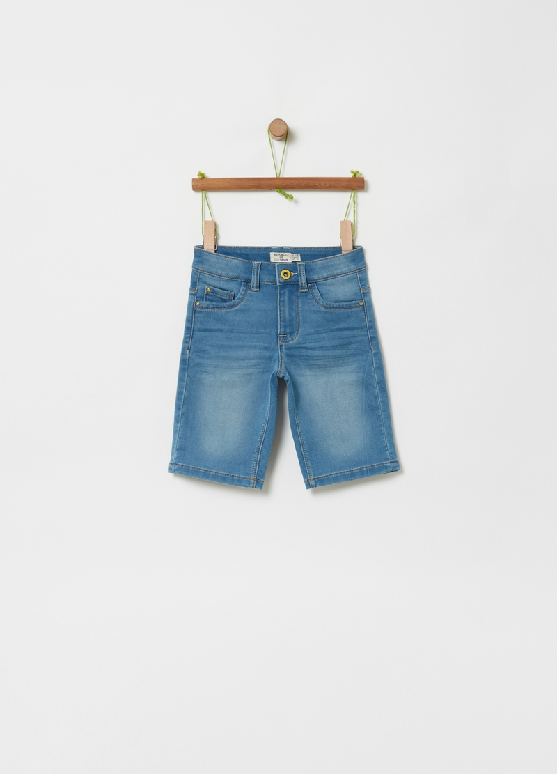 Shorts in denim cinque tasche image number null