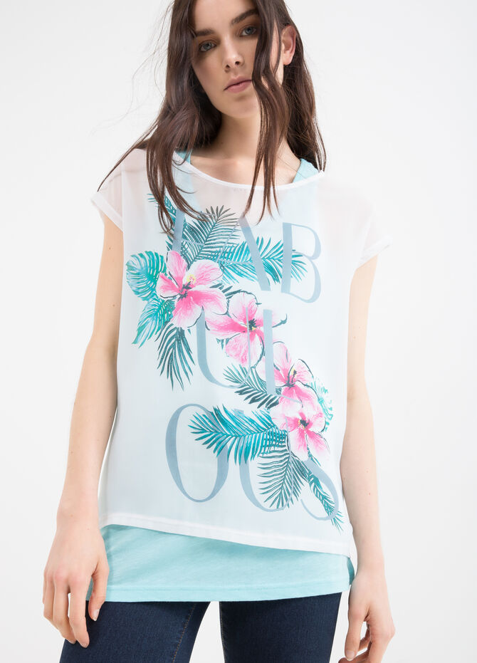 Cotton blend printed T-shirt