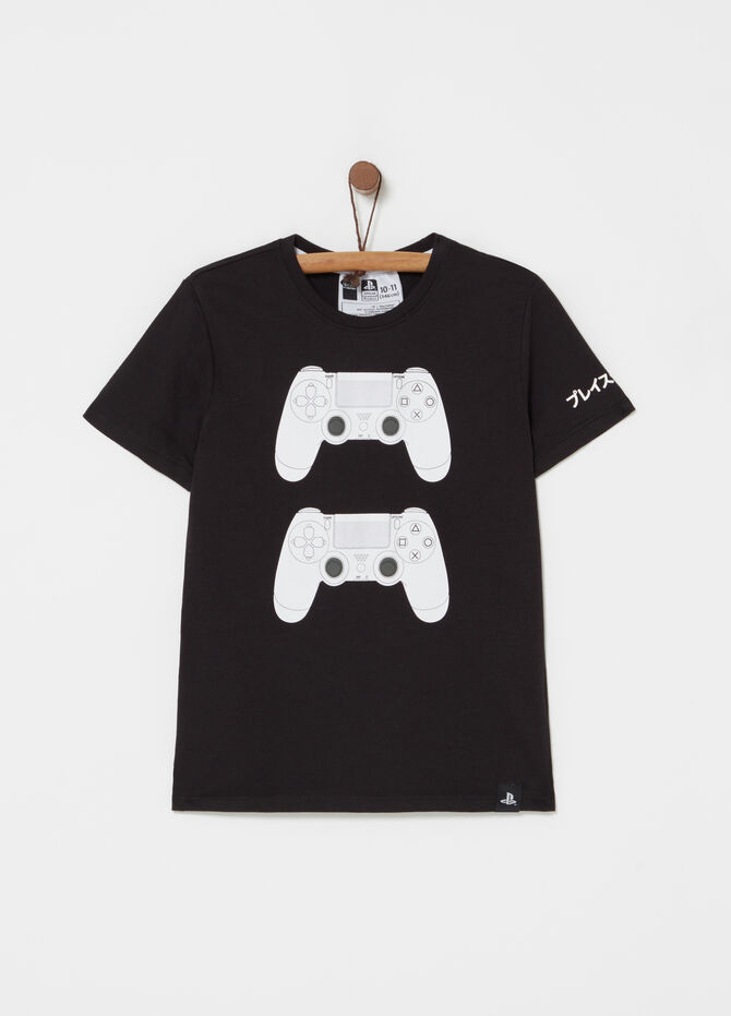 T-shirt in cotone stampa Playstation