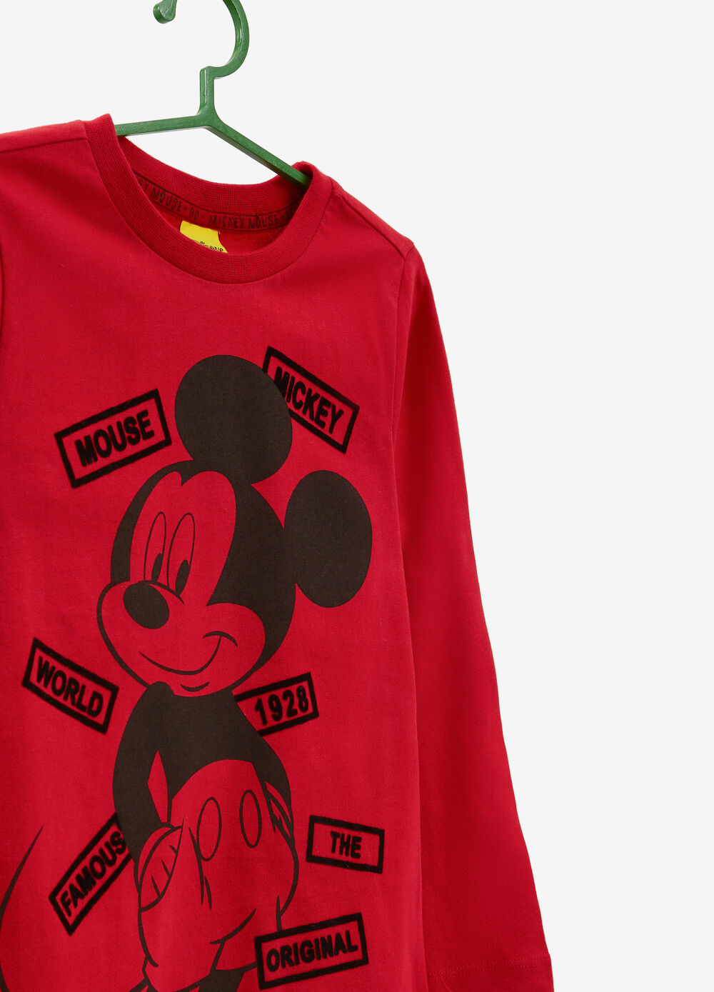 T-shirt puro cotone stampa Mickey Mouse
