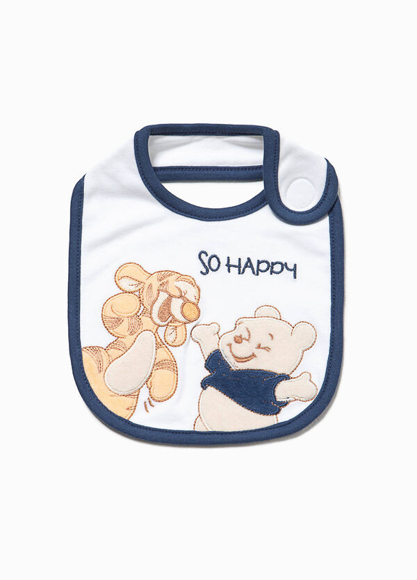 Cotton bib with Winnie the Pooh patch | OVS