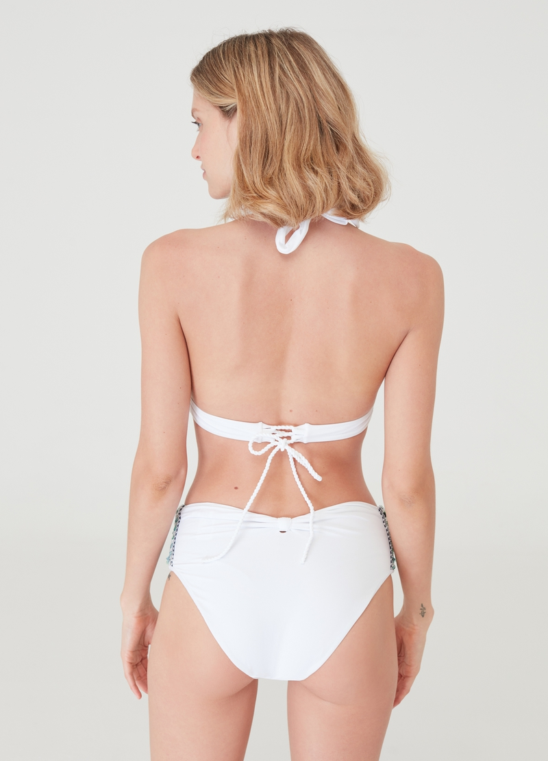Bikini briefs with braided insert image number null