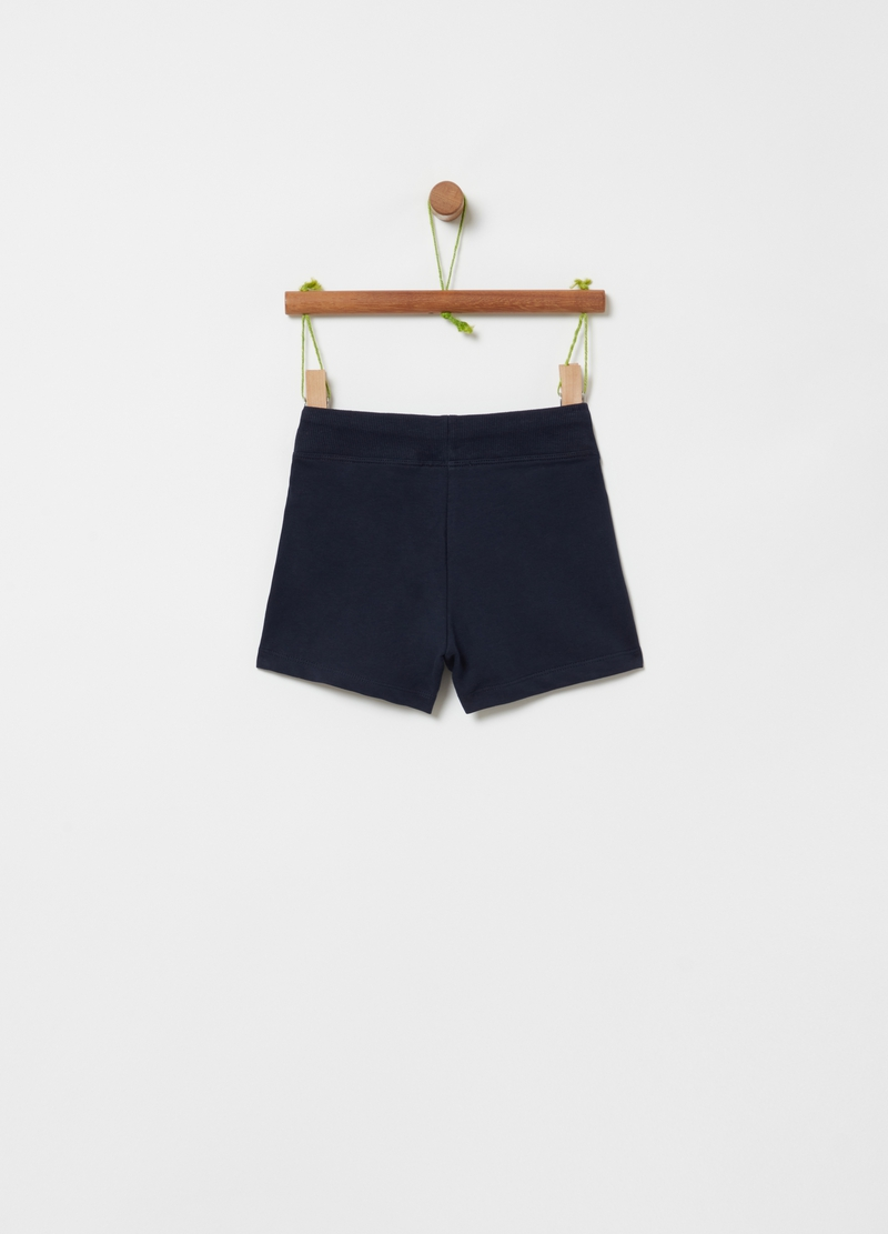 Shorts in French Terry tinta unita image number null