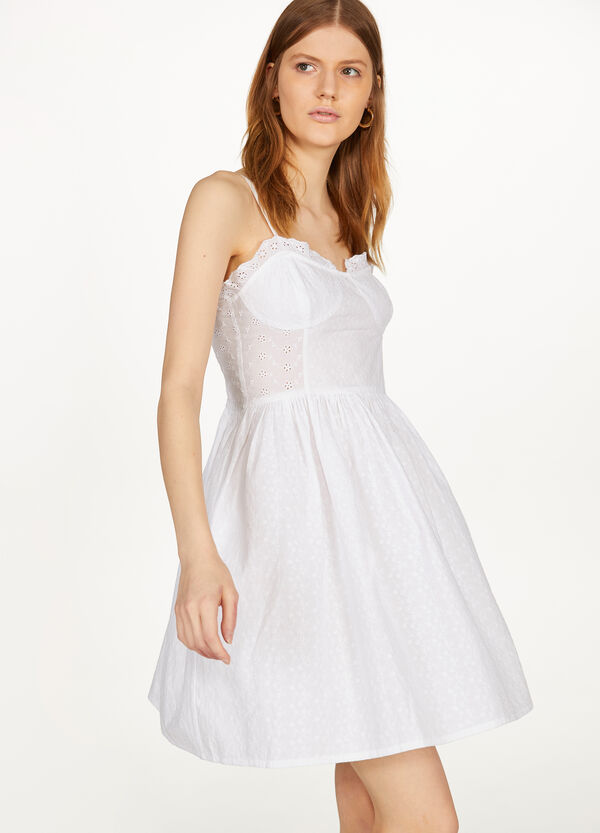 Lace dress with spaghetti straps