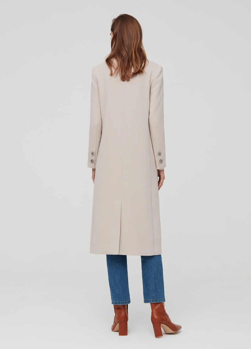 Cappotto lungo con revers image number null