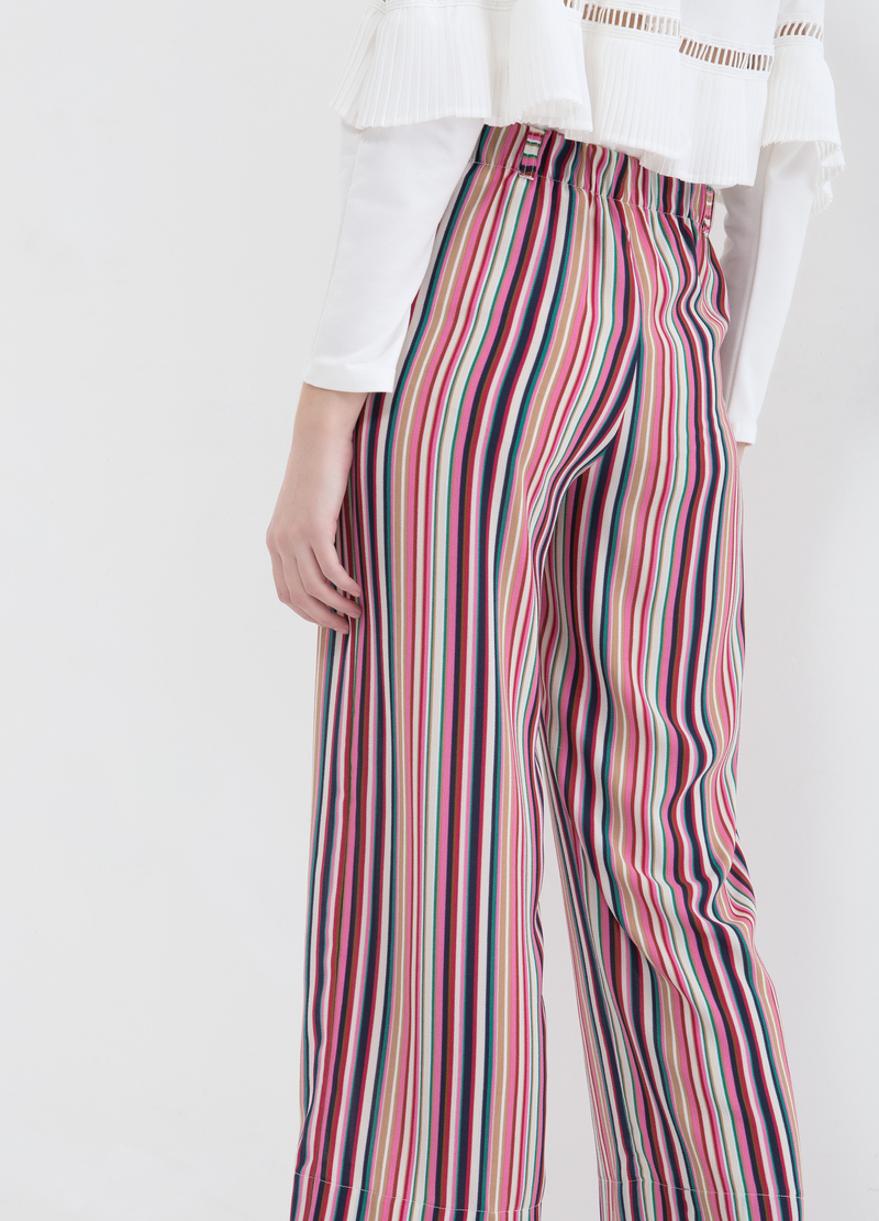 Pantaloni stretch a righe image number null