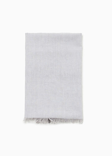 Pashmina in 100% cotton with striped sides