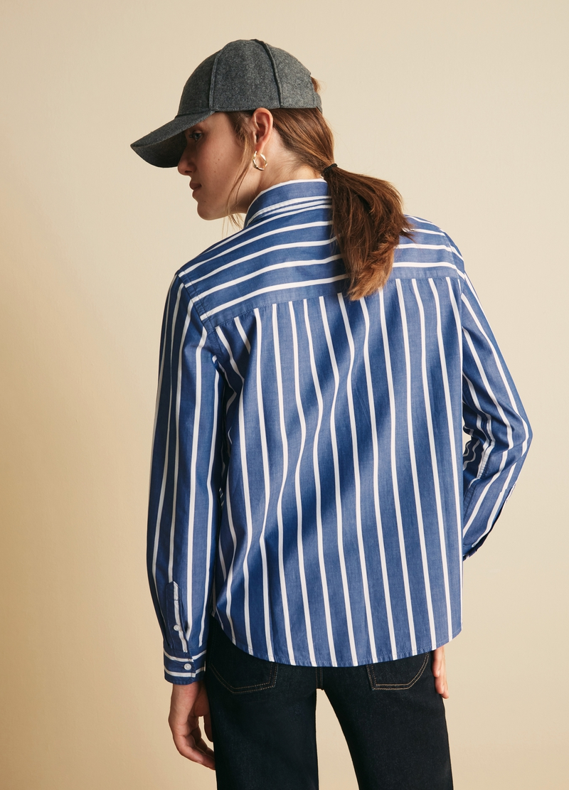 PIOMBO Camicia in cotone a righe image number null