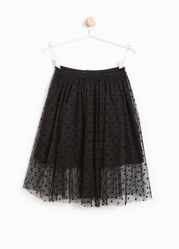 Pleated and lined tulle skirt with stars | OVS