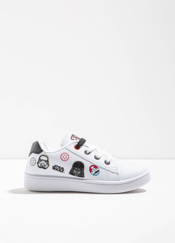 Sneakers stampa e patch Star Wars