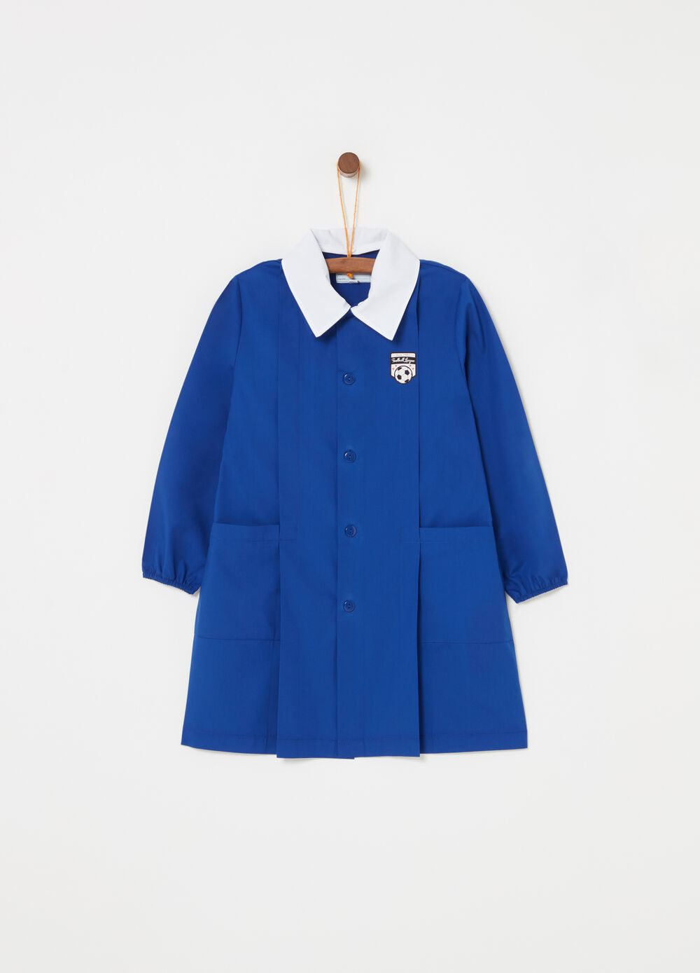 Smock with pockets and embroidery