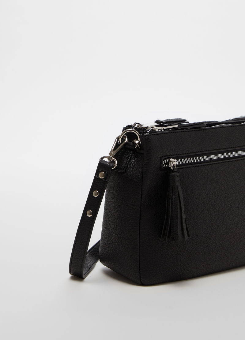 Shoulder bag with double zip image number null