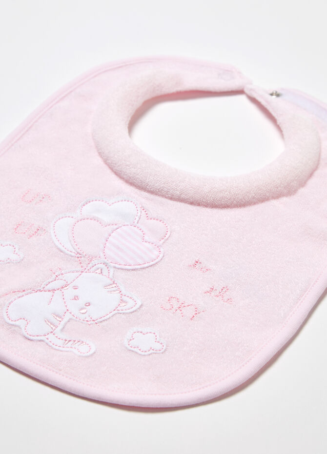 Two-pack bibs with extra absorbent padding