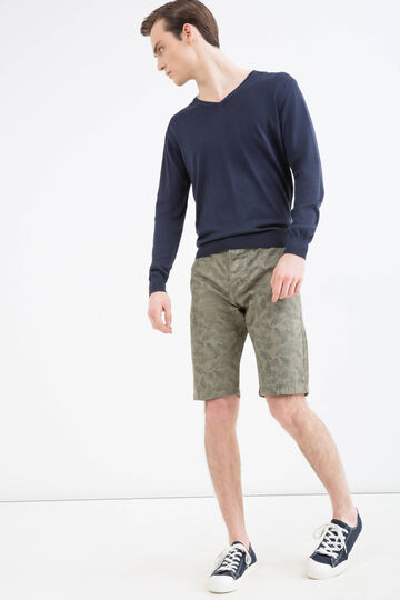 Patterned Bermuda shorts 100% cotton