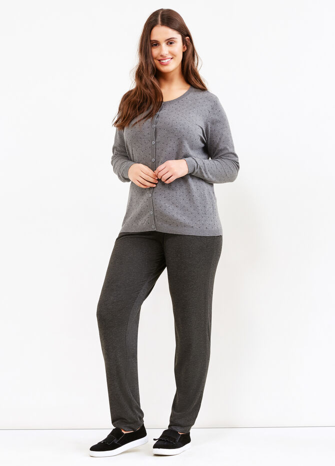 Curvy patterned cardigan in 100% cotton