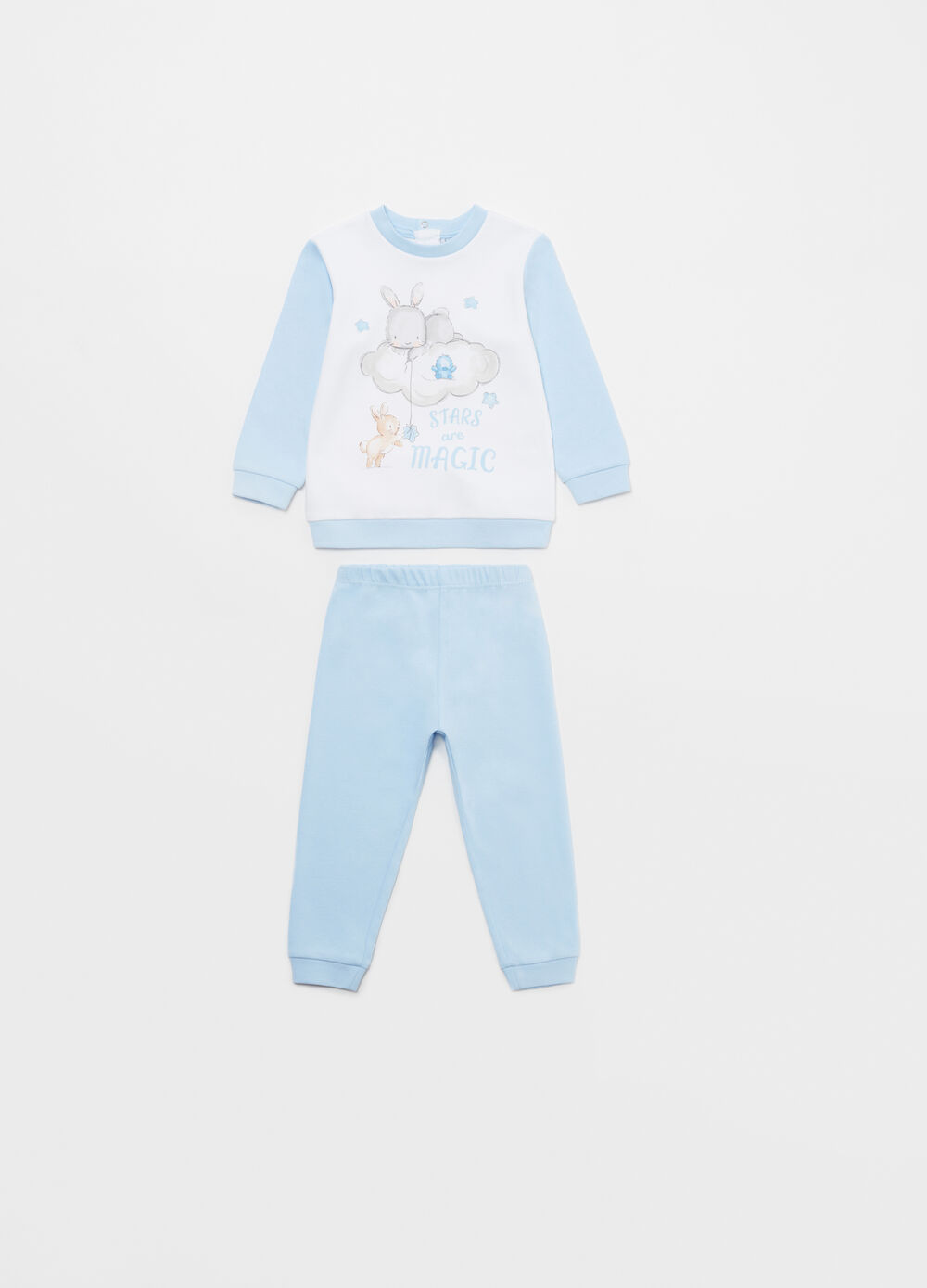 100% cotton pyjamas with rabbits print