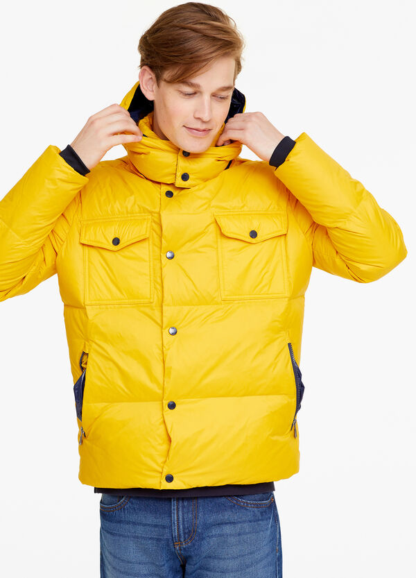 Real down jacket with hood