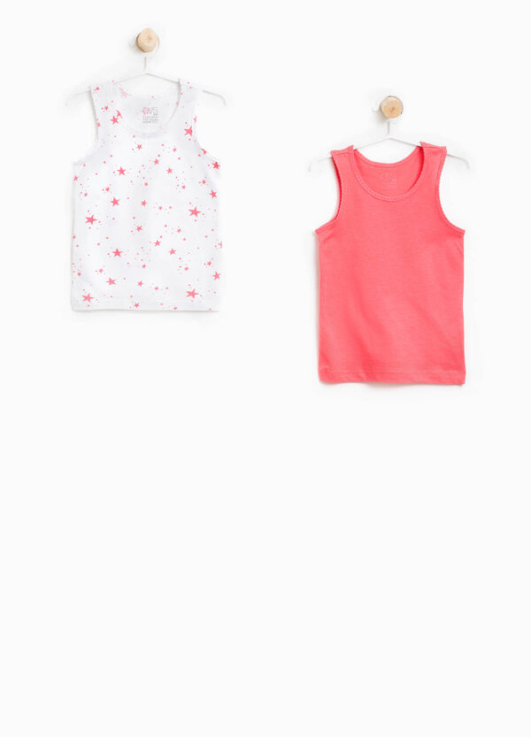 Two-pack cotton vest tops | OVS